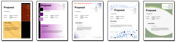 Title Page Pack Volume #1 is bundled with Proposal Pack Food #1