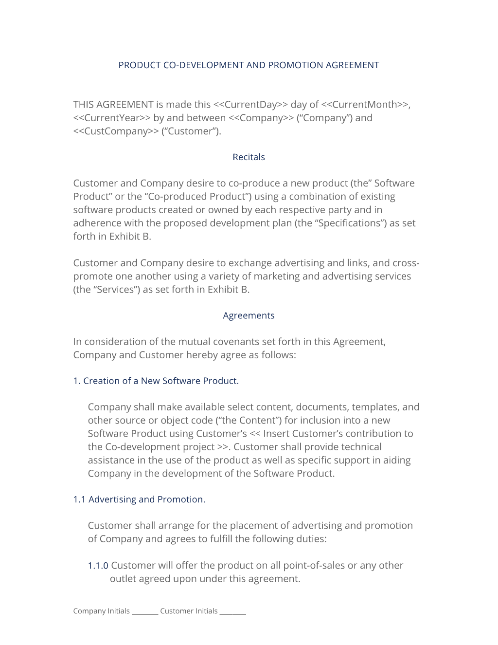 Enterprise development agreement template development agreement.