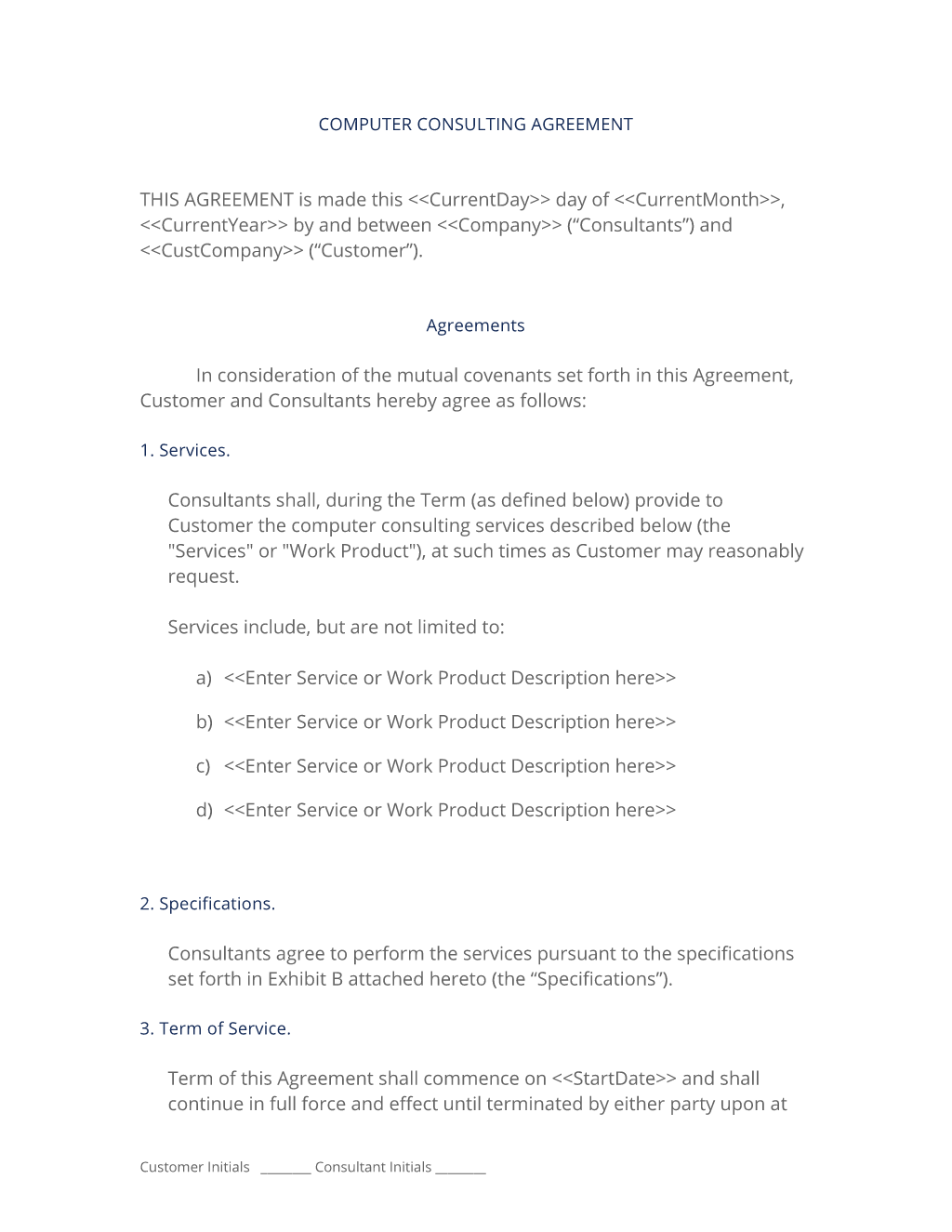 Computer and hardware consulting contract 3 easy steps for It consulting contract template