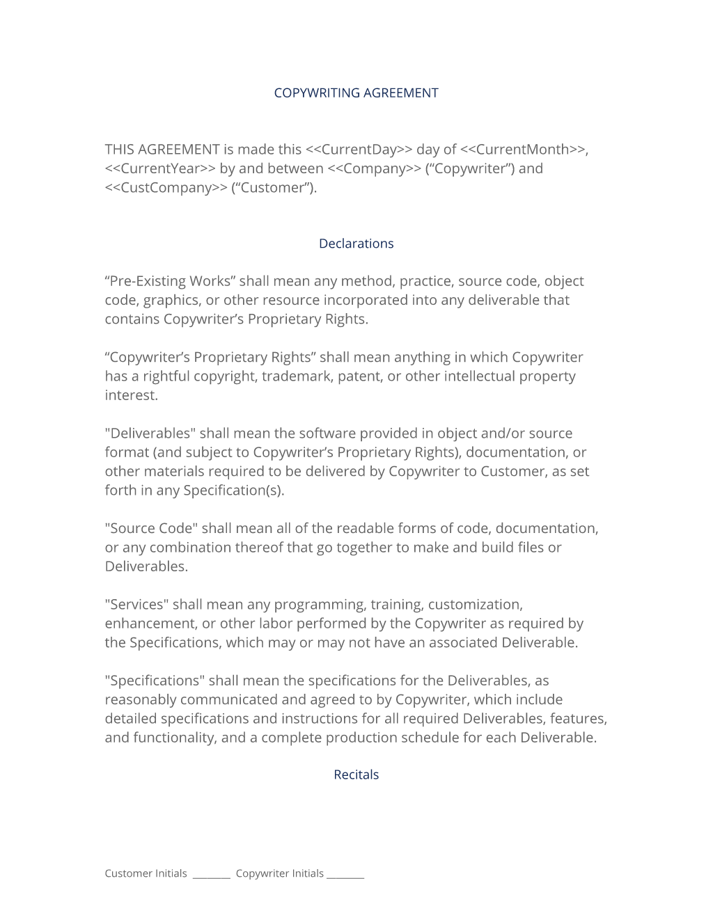 copyright contract template free - copywriting contract 3 easy steps