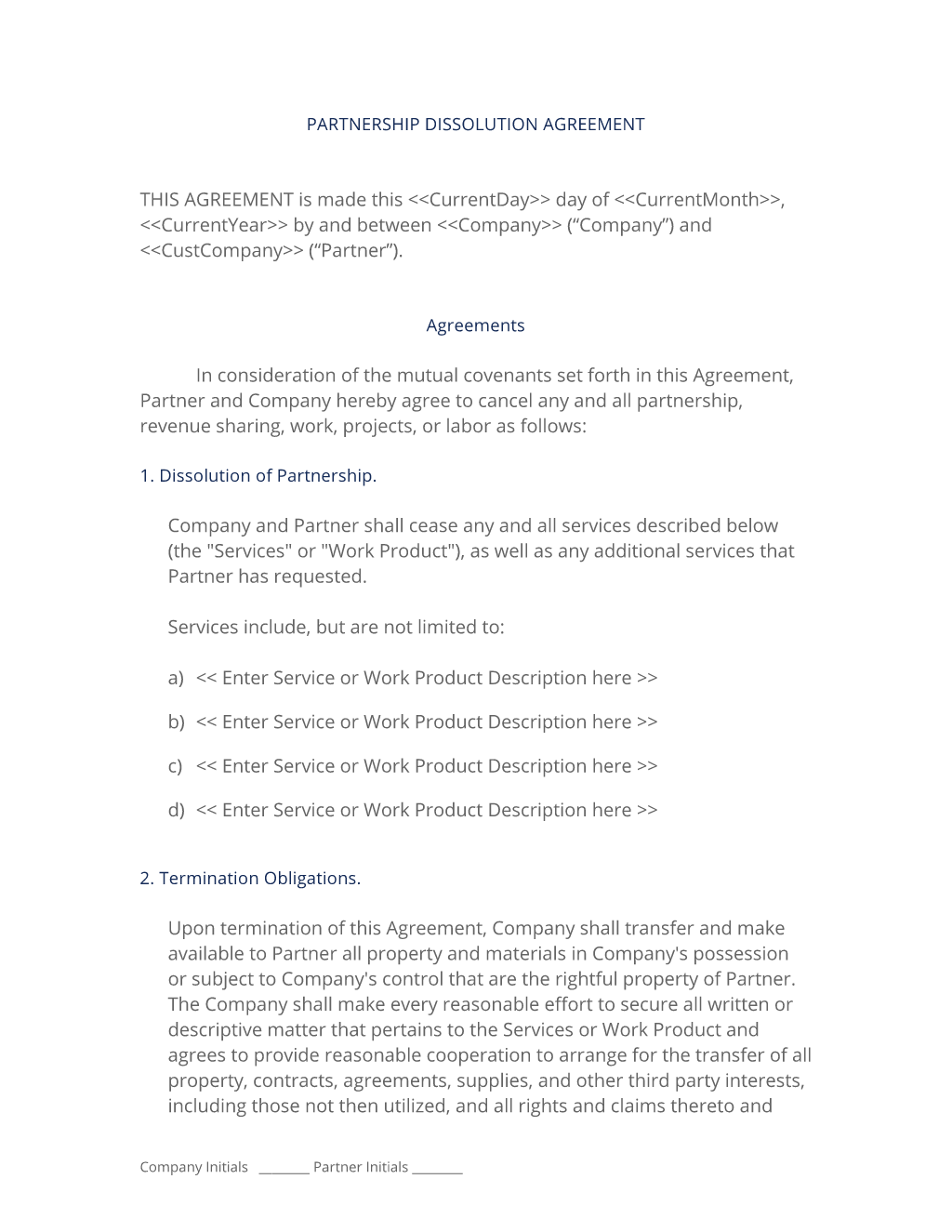 Partnership Dissolution Agreement 3 Easy Steps