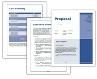 Proposal Packs with the Project Cost Summary document