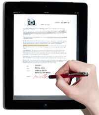Signing a Proposal Kit Contract on the iPad