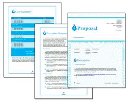 Business Proposal Software and Templates Aqua #1