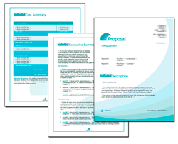 Business Proposal Software and Templates Aqua #4