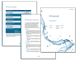 Business Proposal Software and Templates Aqua #5