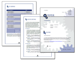 Business Proposal Software and Templates Concepts #1