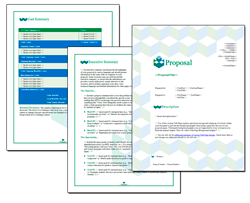 Business Proposal Software and Templates Contemporary #12
