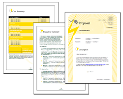 Business Proposal Software and Templates Electrical #1