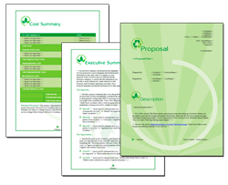 Business Proposal Software and Templates Environmental #2
