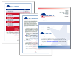 Business Proposal Software and Templates Flag #3