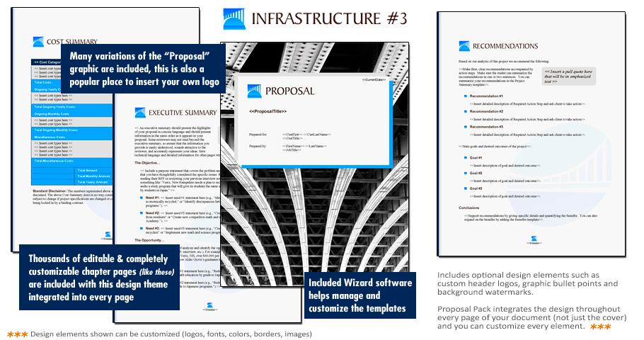 Proposal Pack Infrastructure 3 Software Templates Samples