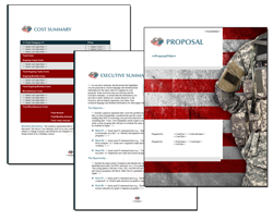 Business Proposal Software and Templates Military #5