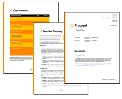Business Proposal Software and Templates Minimalist #1
