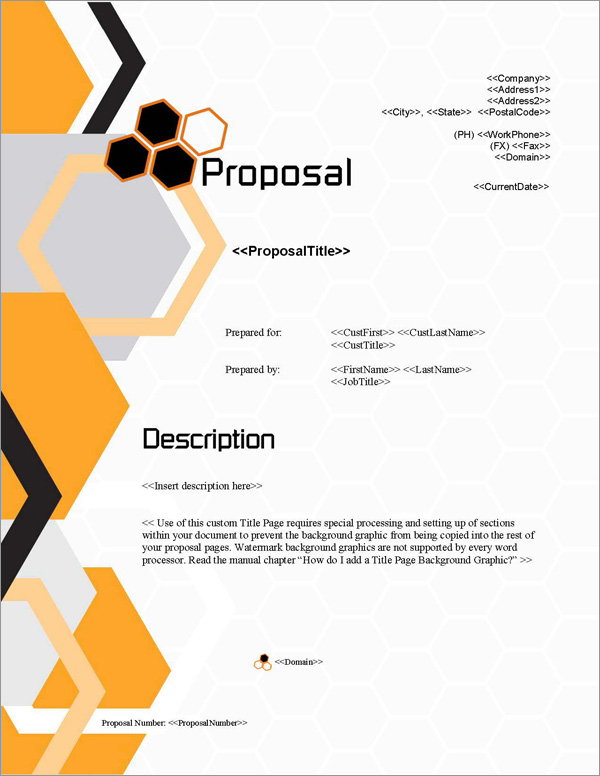 Proposal Pack Contemporary #1 Title Page