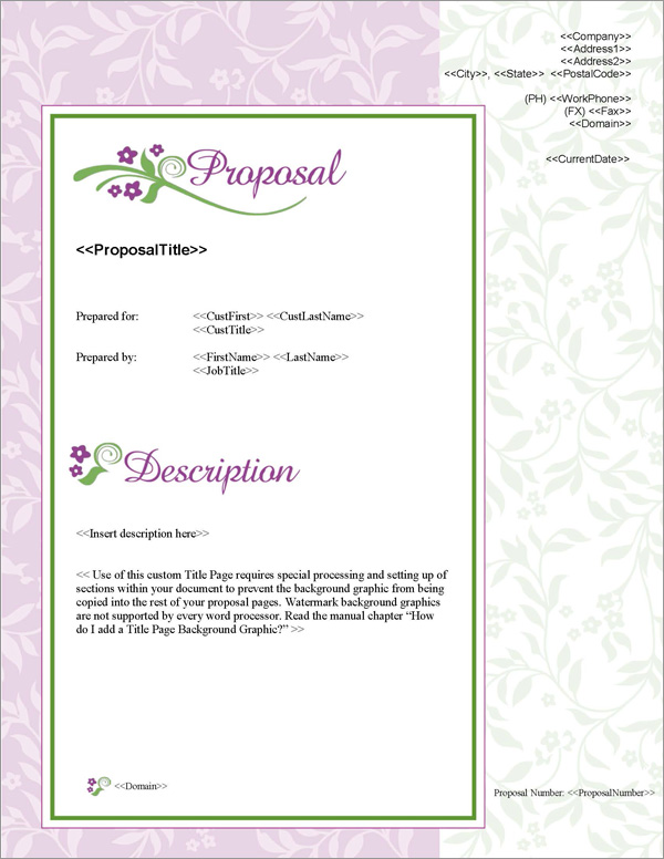 Proposal Pack Elegant #1 Title Page
