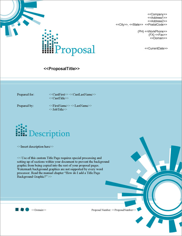 Proposal Pack Tech #1 Title Page