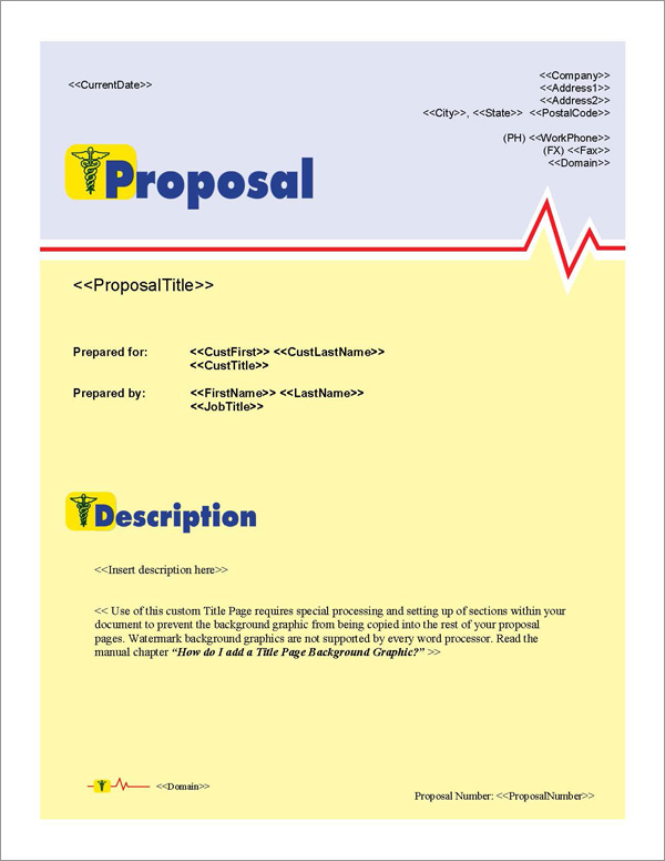 Proposal Pack Medical #1 Title Page