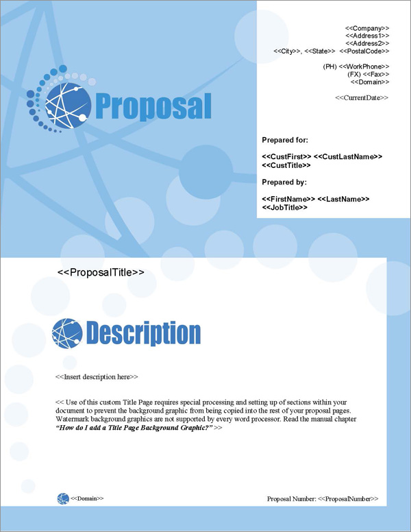Proposal Pack Web #1 Title Page