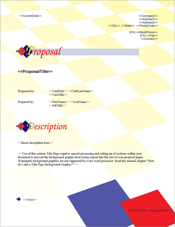 Proposal Pack Contemporary #2 Title Page