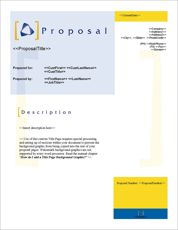 Proposal Pack Classic #3 Title Page