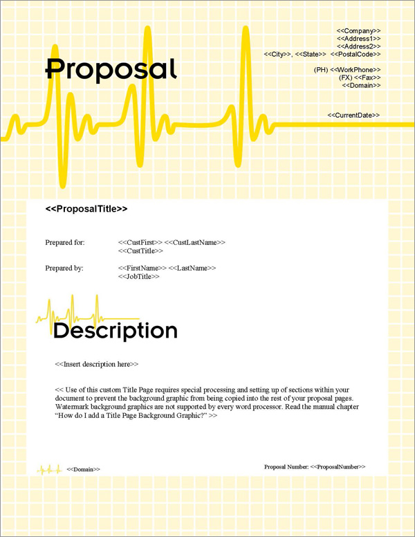 Proposal Pack Healthcare #1 Title Page