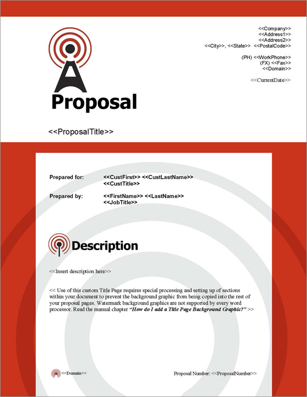 Proposal Pack Telecom #1 Title Page