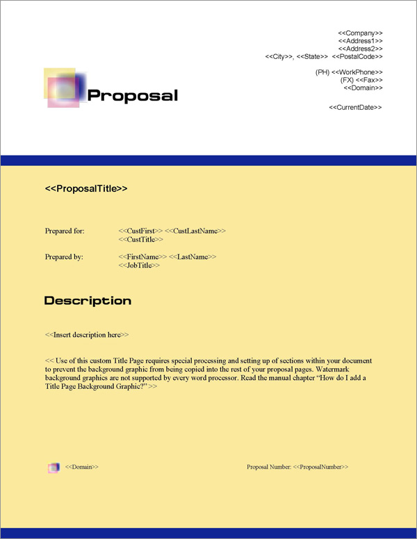 Proposal Pack Artsy #3 Title Page