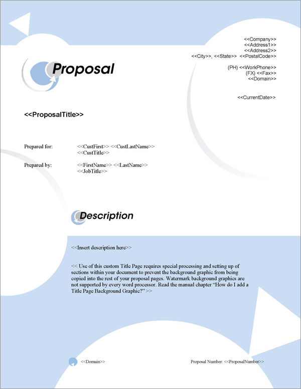 Proposal Pack In Motion #1 Title Page