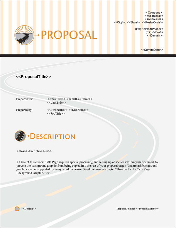 Proposal Pack In Motion #3 Title Page