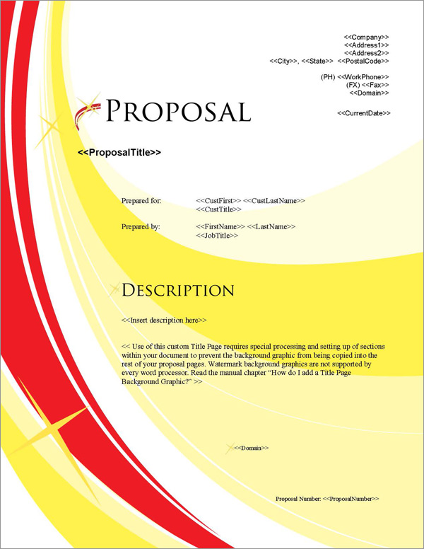 Proposal Pack In Motion #4 Title Page