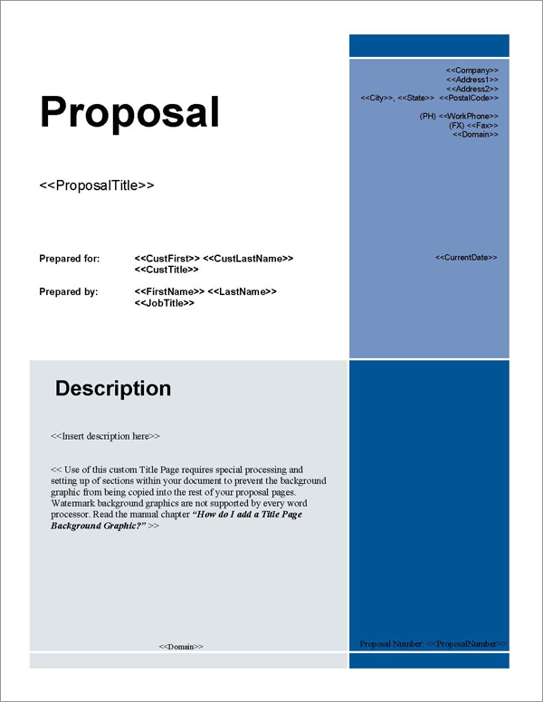 proposal pack for any business software templates samples