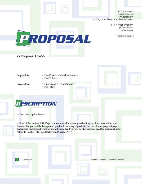 Proposal Pack Business #1 Title Page