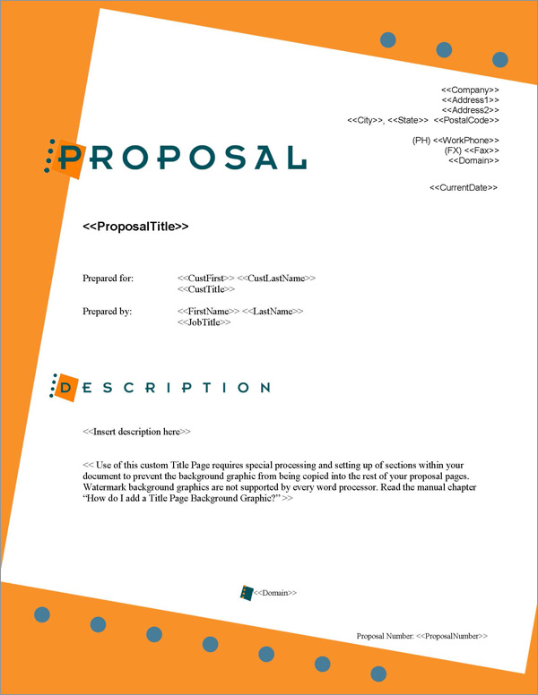 Proposal Pack Business #2 Title Page