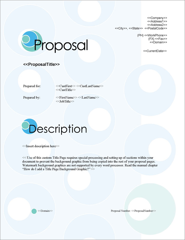Proposal Pack Business #3 Title Page
