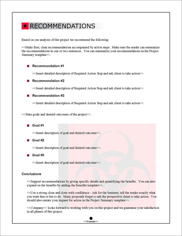 Proposal Pack Safety 1 Software Templates Samples