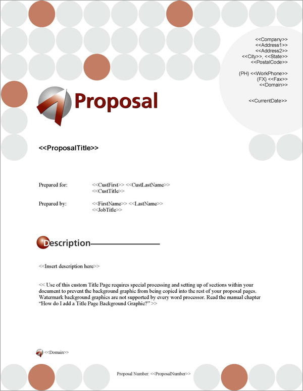 Proposal Pack Business #5 Title Page