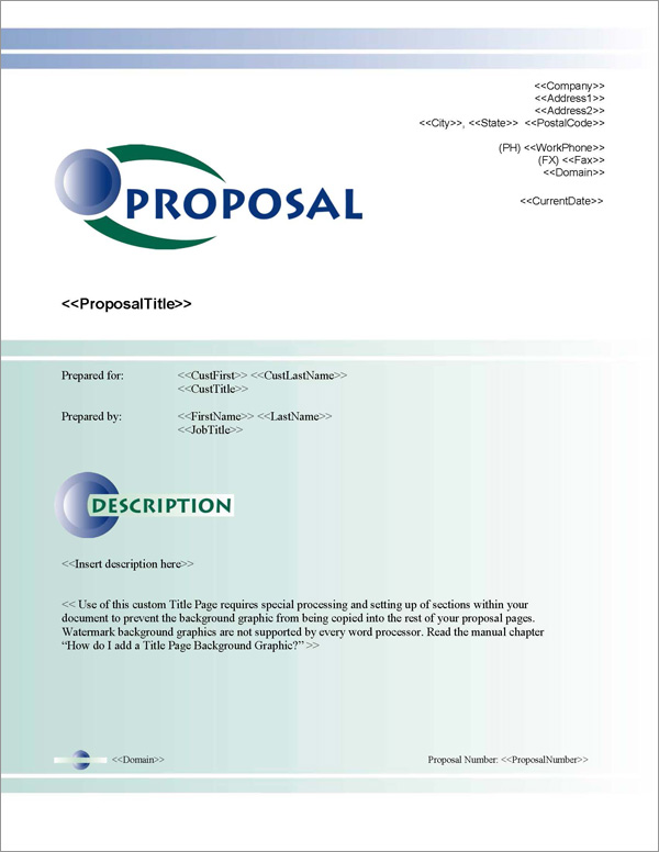 Proposal Pack Contemporary #3 Title Page