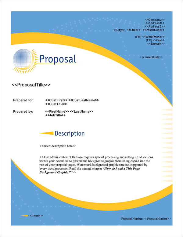 Proposal Pack Global #1 Title Page