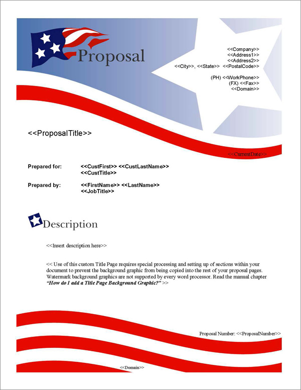 Proposal Pack Flag #1 Title Page