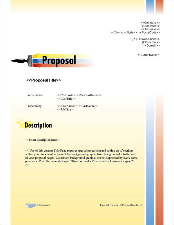 Proposal Pack Painter #1 Title Page