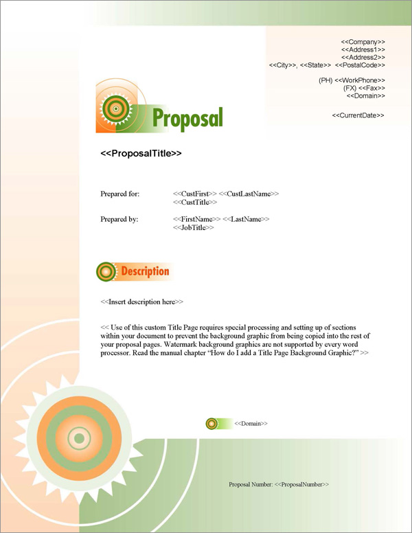 Proposal Pack Business #7 Title Page