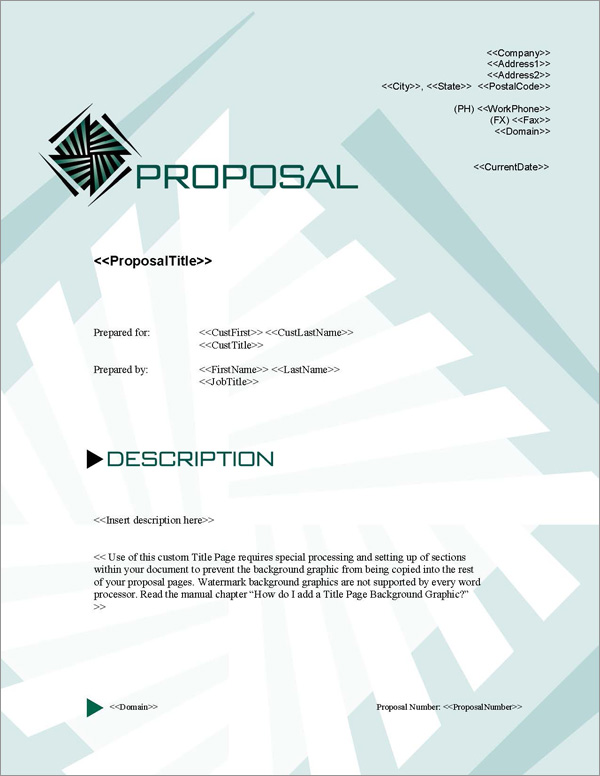 Proposal Pack Contemporary #4 Title Page
