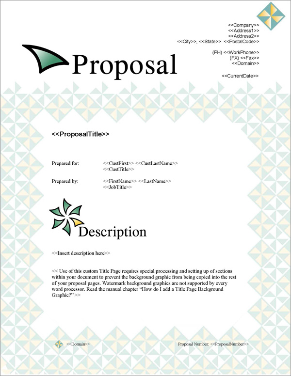 Proposal Pack Contemporary #5 Title Page
