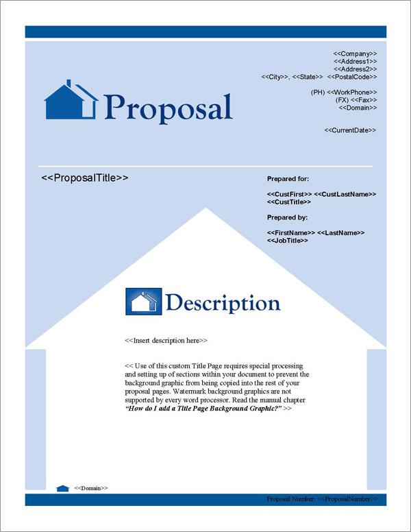 Proposal Pack Real Estate #1 Title Page