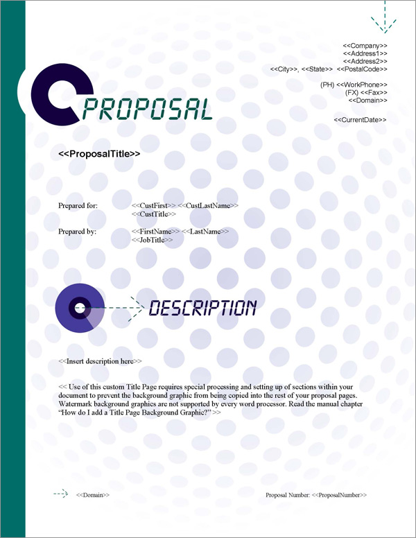 Proposal Pack Multimedia #4 Title Page