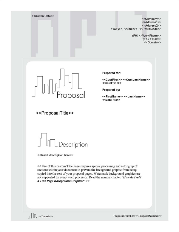 Proposal Pack Skyline #3 Title Page