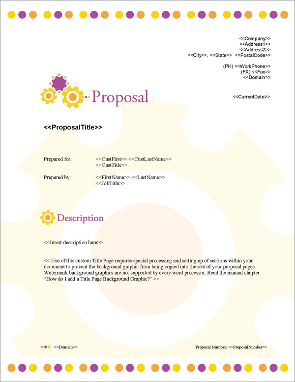 Proposal Pack Concepts #11 Title Page