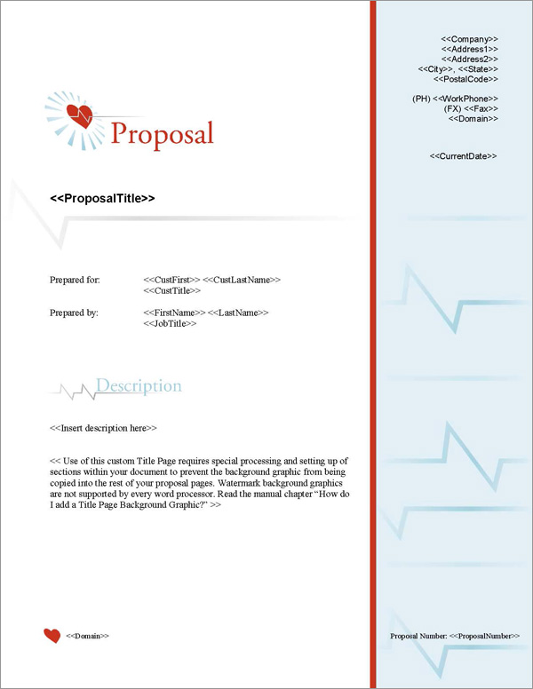 Proposal Pack Medical #6 Title Page