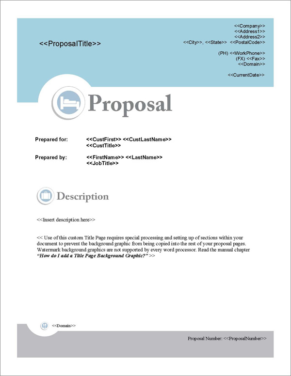 Proposal Pack Hospitality 1 Software Templates Samples